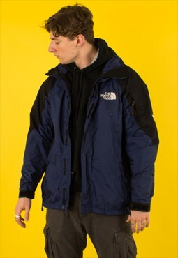 Vintage Blue North Face Goretex Mountain Jacket Coat