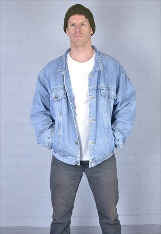 LIGHT BLUE LINED DENIM JACKET