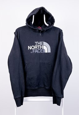 Vintage The North Face Hoodie Spell Out Black Medium