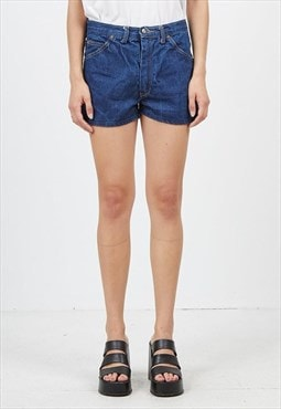 Vintage Navy STORLEK Denim Mini Shorts