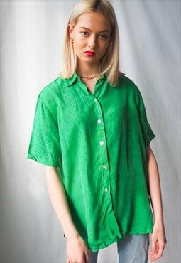 Vintage green button up shirt