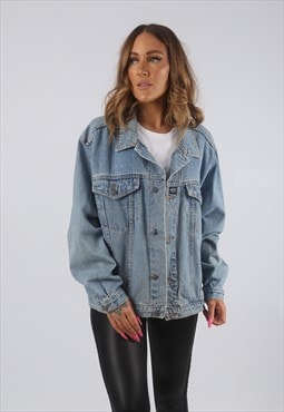 Vintage Denim Jacket Oversized Fitted UK 16 XL (HDL)