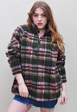 Vintage Oversized Snuggly Zip Fleece Sweater