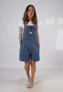 Vintage Denim Dungaree Shorts LEE UK 16 XL (DAJ)