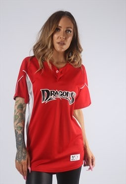 Vintage DRAGONS T-Shirt Sports Jersey Top 10 Small  (GBO)