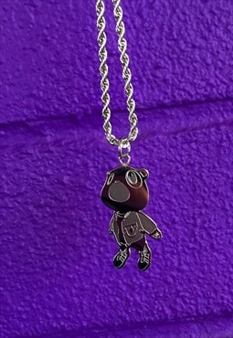 Graduation Bear Necklace Pendant