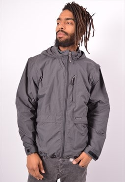 Vintage The North Face Hooded Jacket Grey