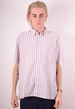 Yves Saint Laurent Mens Vintage Shirt XL Multi Stripes 90s