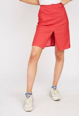 Vintage Red Armani Skirt