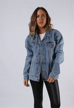 Vintage Denim Jacket ESPRIT Oversized Fitted UK 14 (LC3K)
