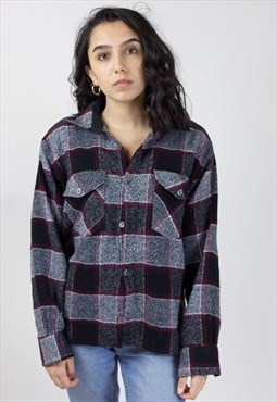 Vintage 90's Red/Grey/Black Flannel Shirt