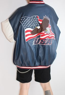 Vintage USA Bomber Sports Jacket