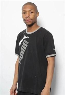 Vintage Puma Big Logo T-Shirt Black