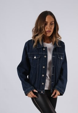 Vintage Denim Jacket Blue UK 12 Medium   (C3E)