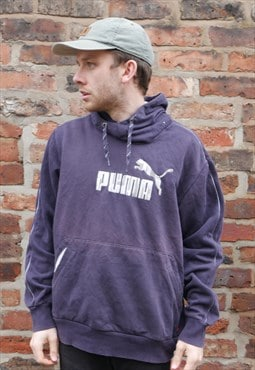 Vintage Puma Hoodie In Blue With Logo
