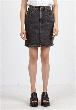 Vintage Dark Grey ESPRIT Denim Mini Skirt