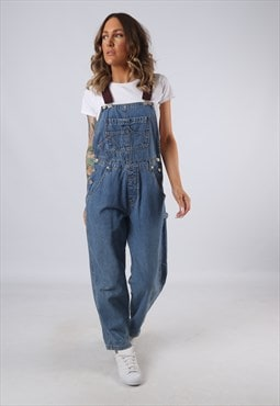 Denim Dungarees Vintage BICH REWORKED  UK 10 (KJBA)