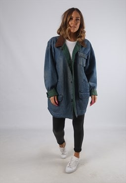 Vintage Denim Jacket Oversized Reversible Longline 18 (H4M