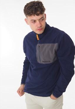 Vintage Timberland 1/4 Zip Sweatshirt Blue