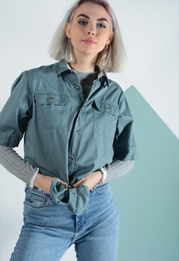 Vintage Wrangler shirt in duck egg.