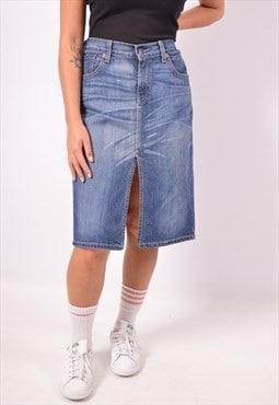 Vintage Levi's 669 Denim Skirt Blue