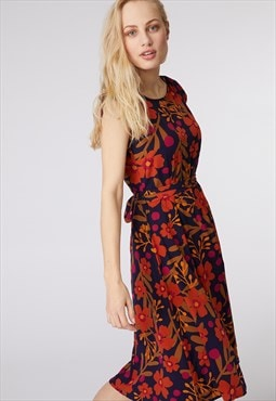Princess Highway Navy Floral Printed Dress