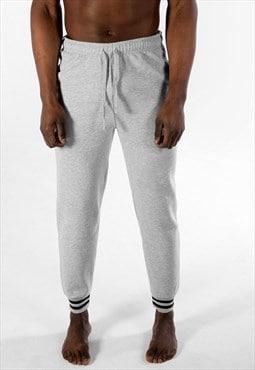 Essential Striped Hem Slim Tracksuit Jogger Bottoms - Grey