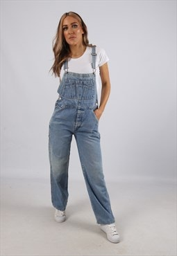Vintage Denim Dungarees Wide Leg OLD NAVY UK 8 XS (BCA)