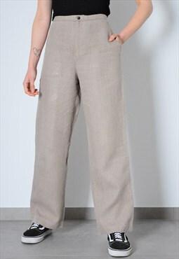 Vintage 90s Beige Linen Pants