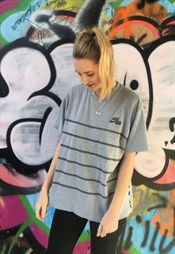 Retro Vintage Grey Nike Air Oversized Baggy T-Shirt