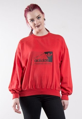80'S ADIDAS RED SWEATSHIRT SWEATER