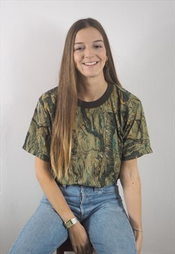 Vintage Green Leaf Camo T-shirt