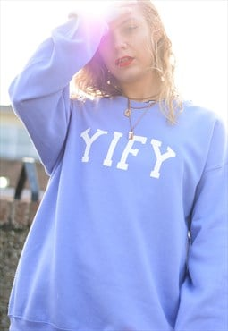 Oversized sweatshirt with spell out logo