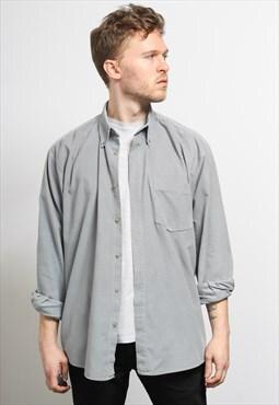 Vintage Corduroy Cord Shirt Grey