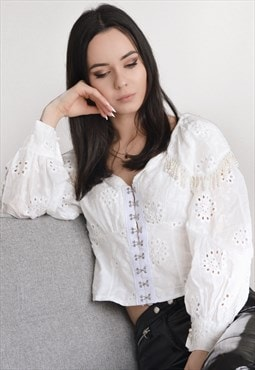 Beaded Crochet Blouse