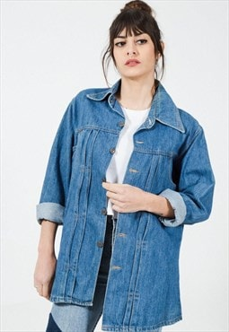 Vintage 80s Classic Basic Denim Jacket  / S8884