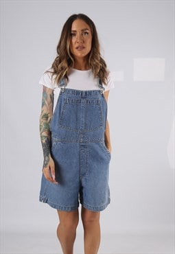 Vintage Denim Dungaree Shorts GAP UK 14 Large  (HDAL)