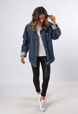 Denim  'Shirt Style' Jacket Oversized LEVIS UK 16 - 18 (D7CI