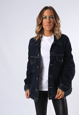 Denim Jacket GOOOD JEANS Oversized Fitted UK 20  (E4CN)