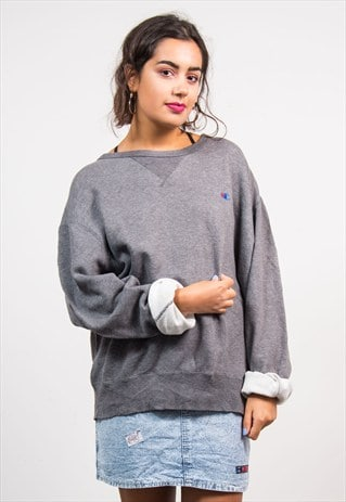 VINTAGE 90'S GREY CHAMPION SWEATSHIRT JUMPER