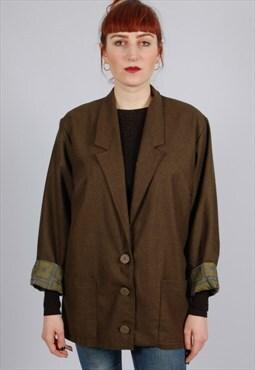 Vintage green single breasted blazer