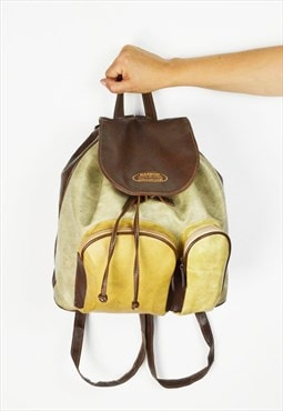 Beige Faux Leather Rucksack