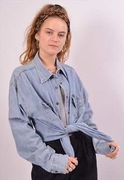 Vintage Lee Denim Shirt Blue