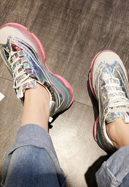 Mermaid Holographic Platform Sneakers