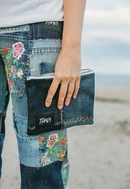Large Purse In Patchwork Denim