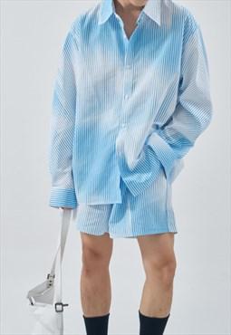 Men's Tie-dye shirt and shorts set