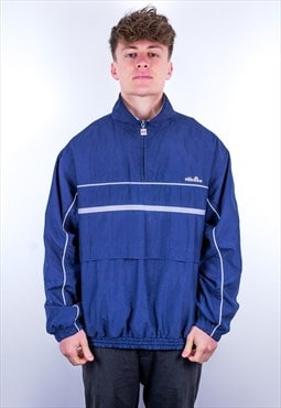 Vintage Ellesse 1/4 Zip Pullover Jacket in Blue