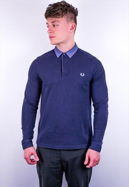 Vintage Fred Perry Rugby Polo Shirt in Blue