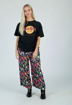 90s Multi colour floral Coulotte trousers