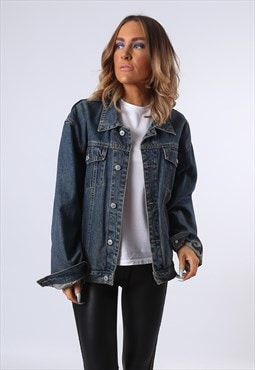 Denim Jacket JINGLERS Oversized Fitted UK 14  (EDBR)